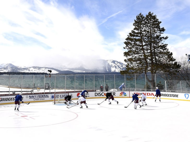 NHL Teams Hold Outdoor Practice In Lake Tahoe With Insane Views!