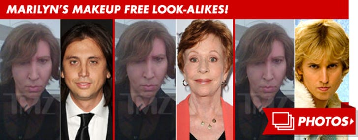 Marilyn Manson -- The Makeup Free Look-Alikes