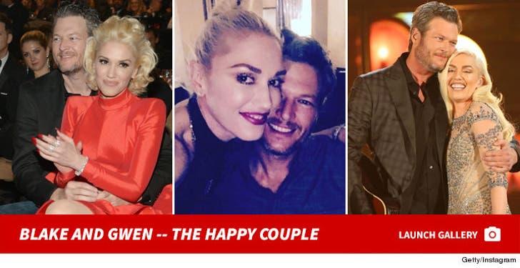 Gwen Stefani and Blake Shelton -- The Happy Couple