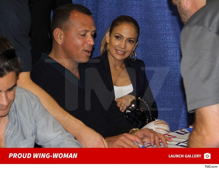 Alex Rodriguez and Jennifer Lopez -- Chicago Signing Day