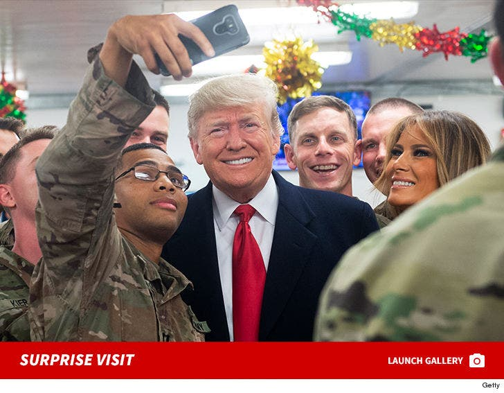 Donald & Melania Trump Make Surprise Visit To U.S. Troops In Iraq For Christmas