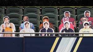 BTS Cutouts Get Front Row View At World Series, Better Seats Than Tom Brady!