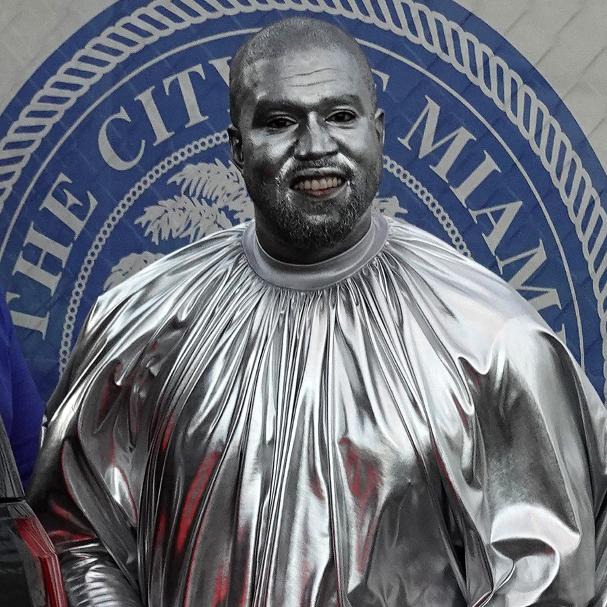 Kanye West's Entire Body Covered in Silver For New Opera, 'Mary'