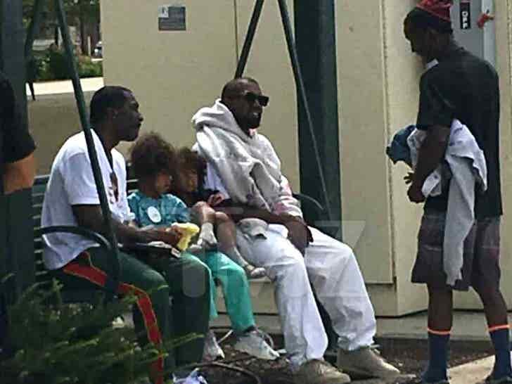 Kanye West preparing for Sunday Church in Dayton Ohio