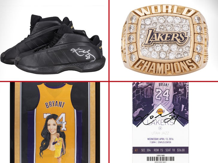 Kobe Bryant Auction Items For Sale