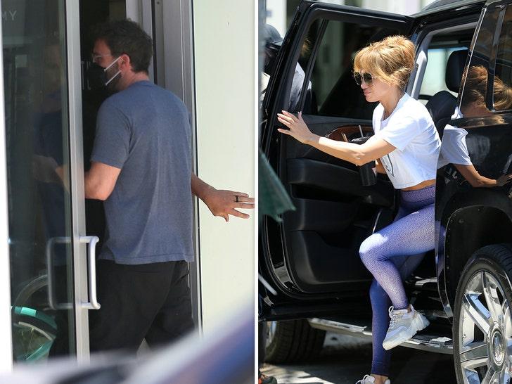 Jennifer Lopez Ben Affleck Hit Gym Together In Miami