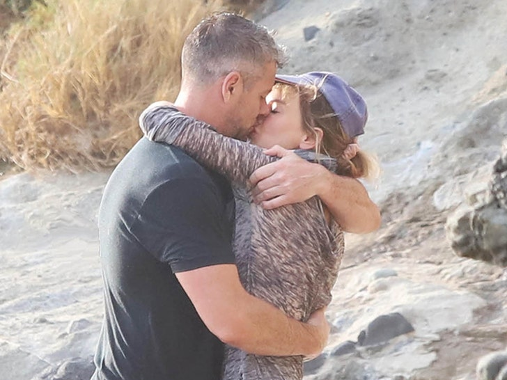 Renee Zellweger and Ant Anstead at the Beach
