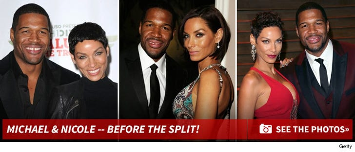 Michael Strahan & Nicole Murphy -- Before The Split
