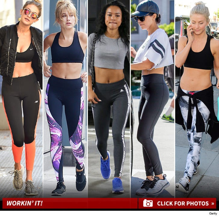Top 10 Stars Workin' It In Exercise Clothing ... Thank the Lord For Lycra!