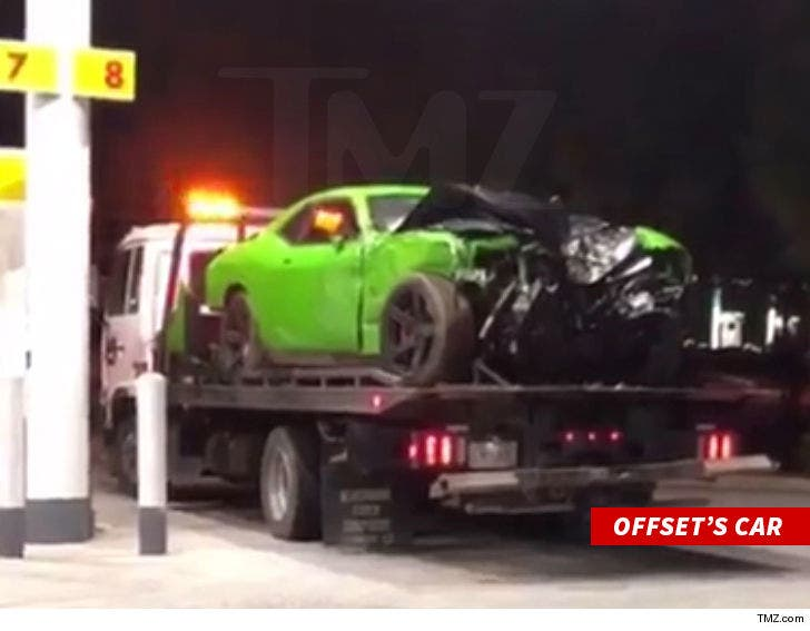Offset's Gruesome Car Accident Pictures