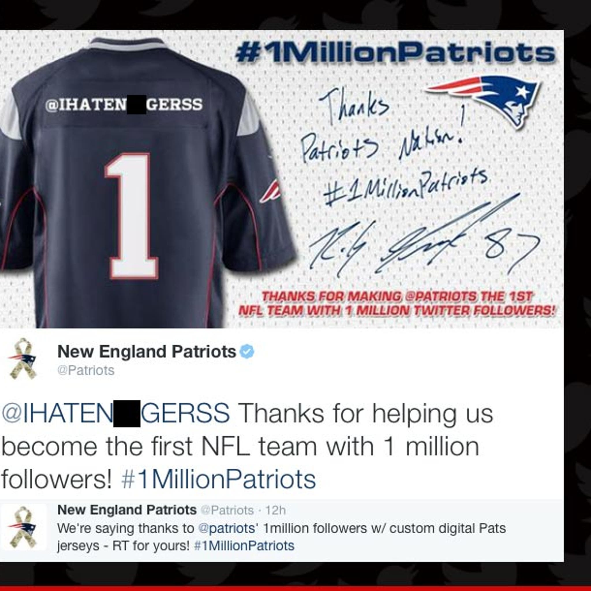 Wholesale New England Patriots Apologize For Racist Auto Tweet Our Bad  supplier