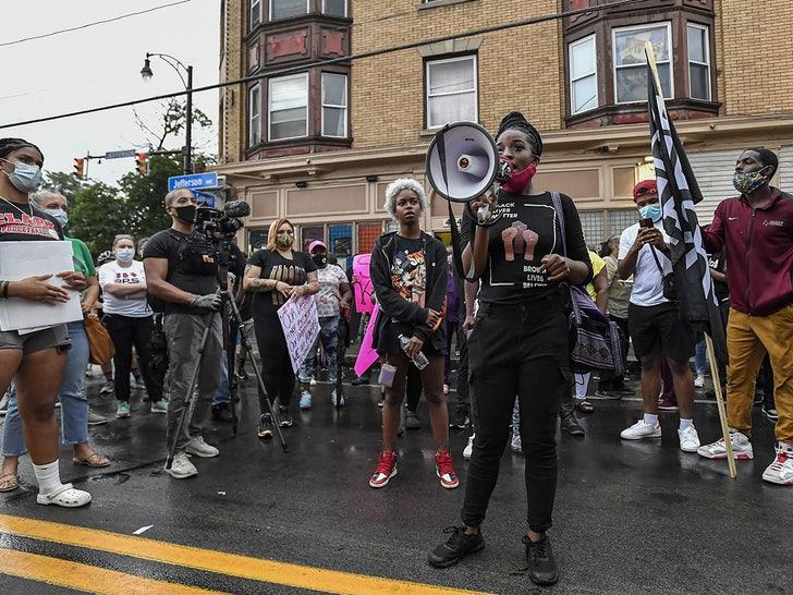 Protesting in Rochester For Daniel Prude