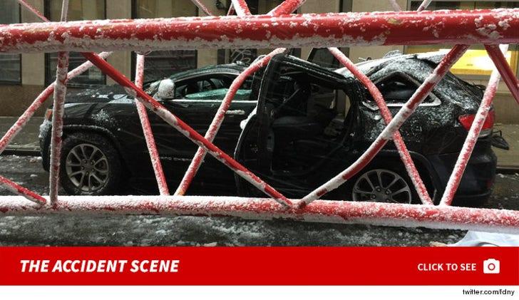 Crane Crash Photos