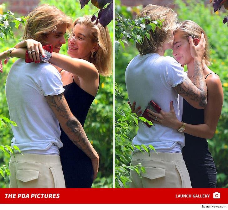 Justin Bieber and Hailey Baldwin -- PDA in Brooklyn