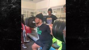 Saquon Barkley Box Squats Insane Amount Of Weight, Barbell Bends!
