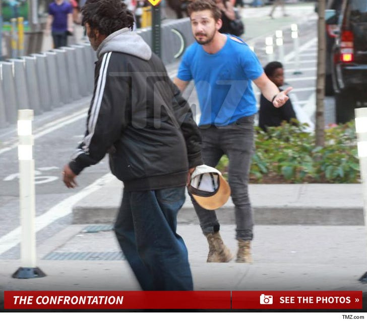 Shia LaBeouf -- Chased Around a Homeless Guy Hours Before Arrest