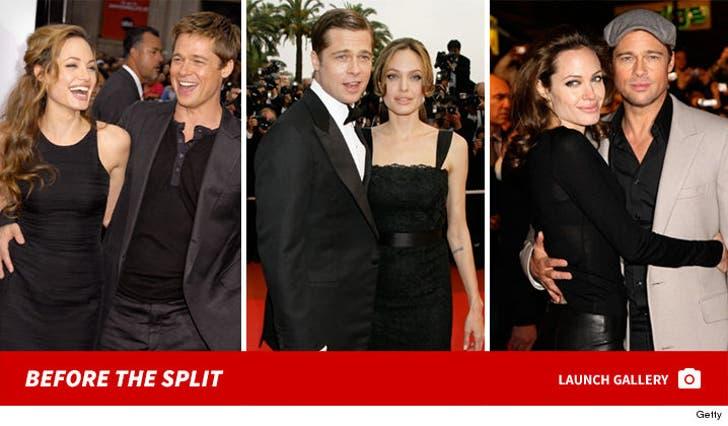 Angelina Jolie and Brad Pitt -- Before the Split