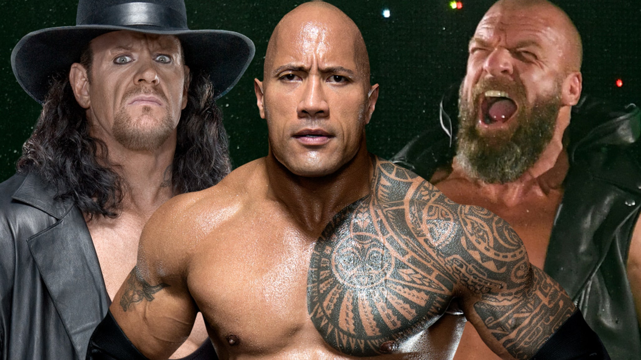 The Rock Invented 'People's Elbow' to Make Undertaker Laugh, Triple H Says