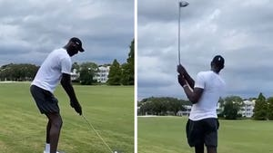 "7'6"" Celtics Center Tacko Fall Shows Off Golf Swing On Links With Mo Bamba"