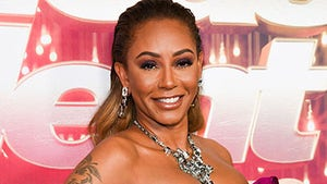 Mel B Goes Baby Bump into the Middle of the Night