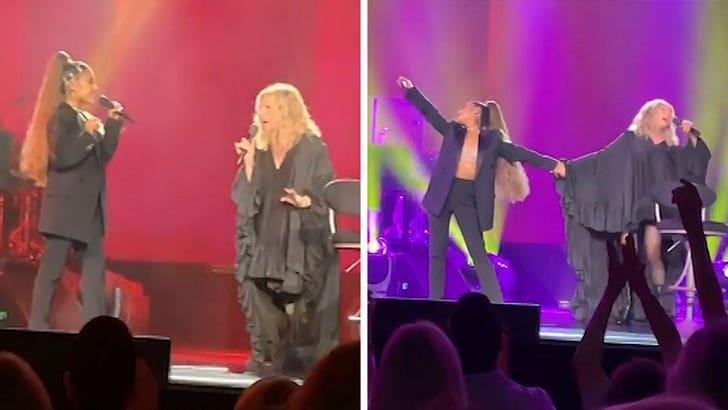 Ariana Grande Surprises Barbra Streisand at Chicago Concert