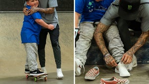 Skate Champ Nyjah Huston Hits the Ramps with 11-Year-Old Make-A-Wish Kid