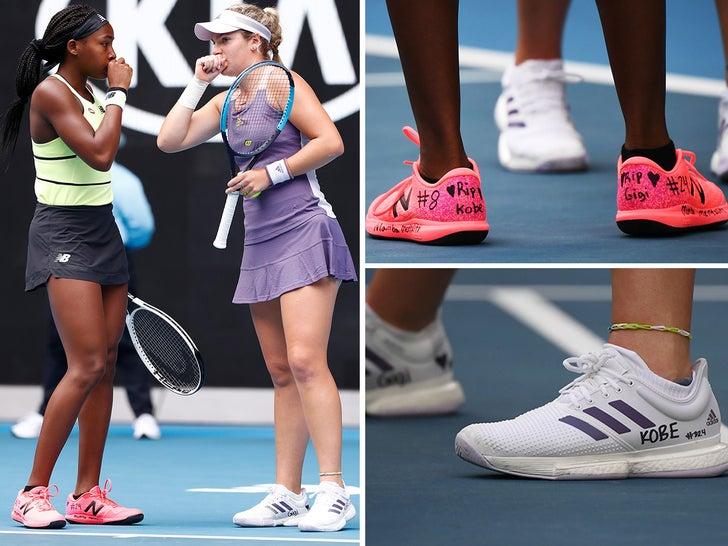 Catherine McNally and Coco Gauff -- Honoring Kobe At Australian Open