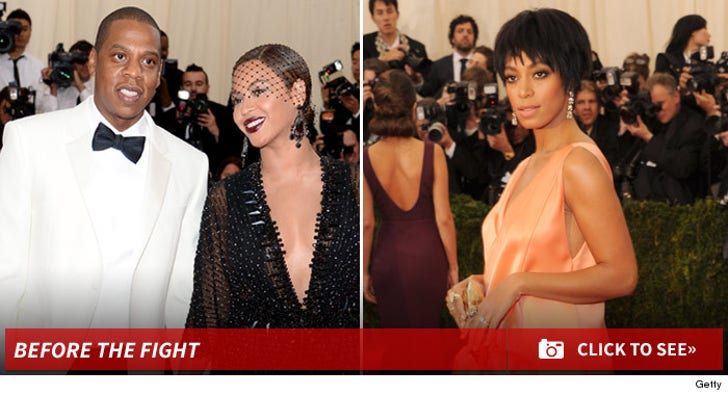 Jay Z and Solange -- Before The Fight