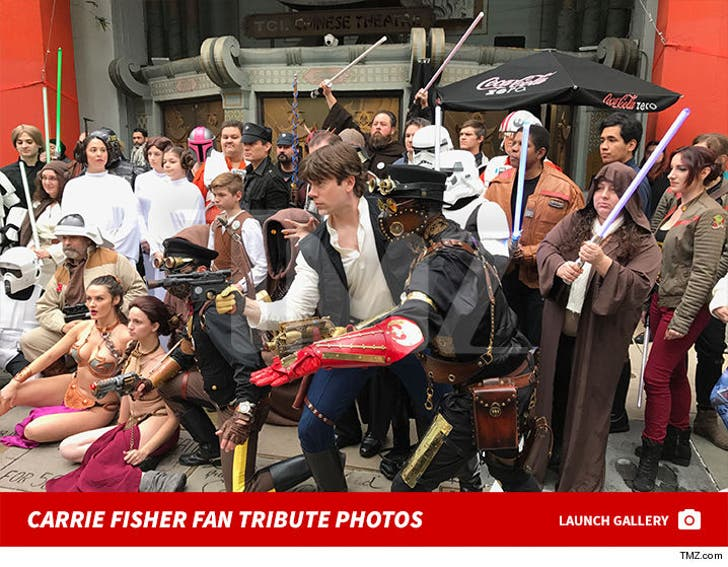 Carrie Fisher -- Chinese Theater Fan Tribute