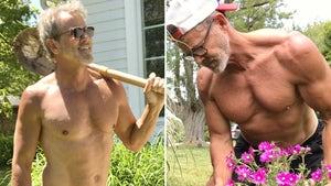 Tom Ernsting Rips Through Shirtless Yardwork -- Hot Dad Alert!