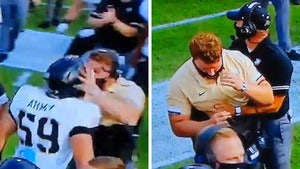 Army Football Player Brutally Headbutts Sideline Coach with Helmet On