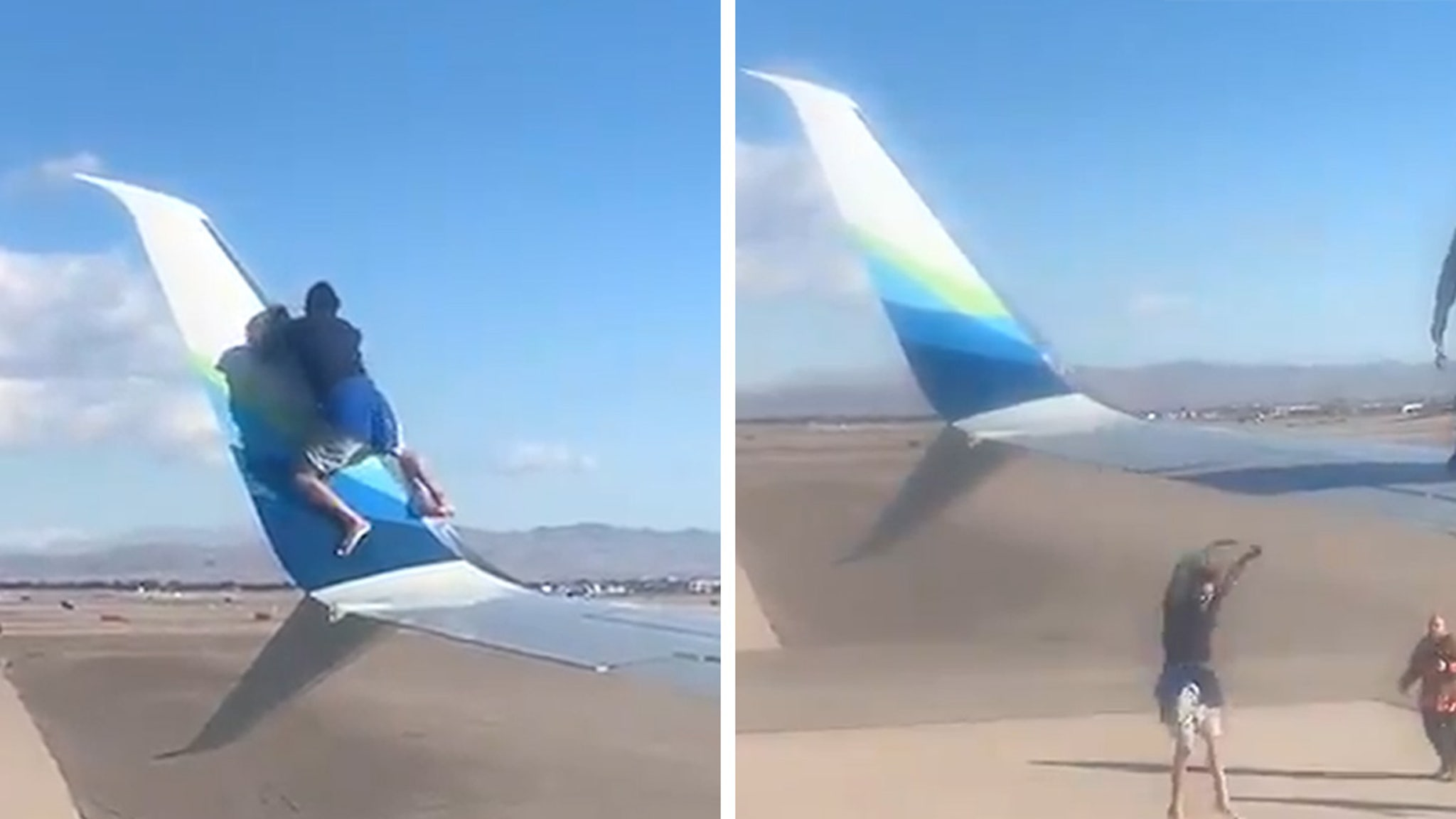 Vegas Man Arrested After Scaling Airplane Wing and Then Falling Off thumbnail