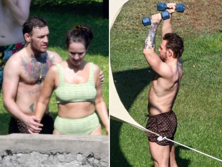 Conor McGregor And Girlfriend Dee -- PDA In Italy