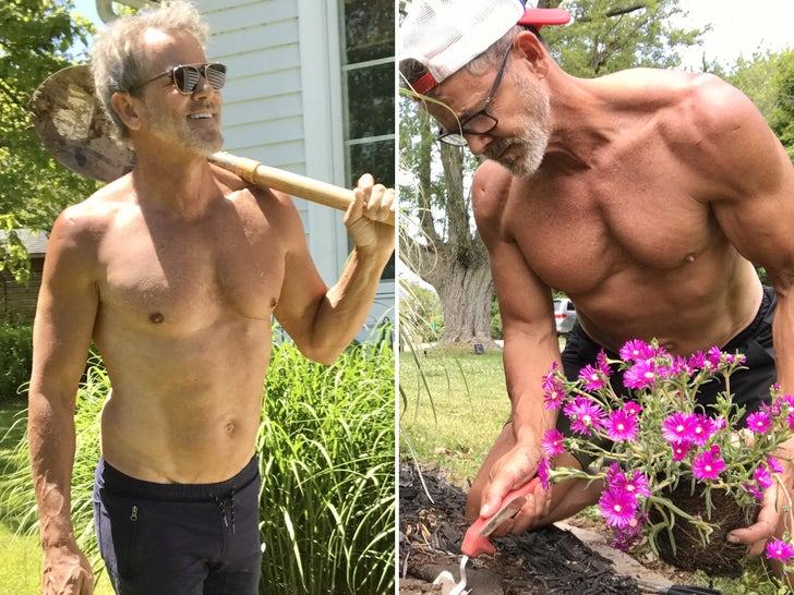 Tom Ernsting Rips Through Shirtless Yard Work -- Hot Dad Alert!