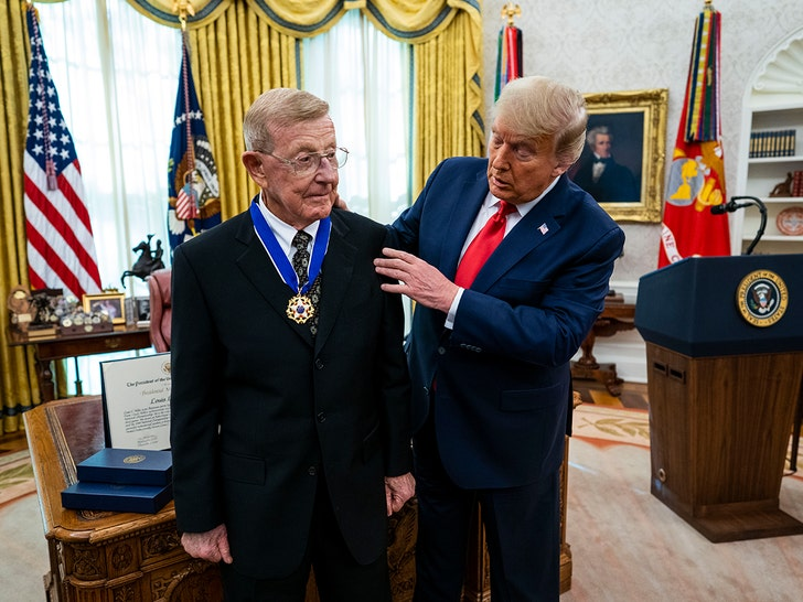 Lou Holtz Receives Medal of Freedom From Trump