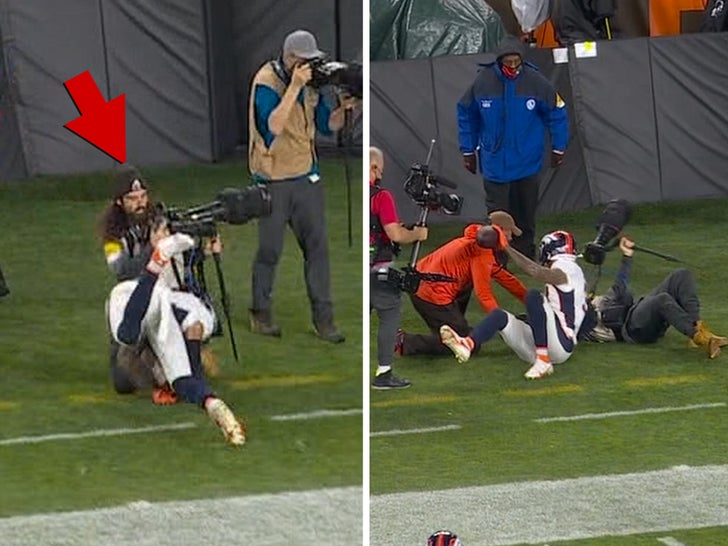 browns photographer tackled
