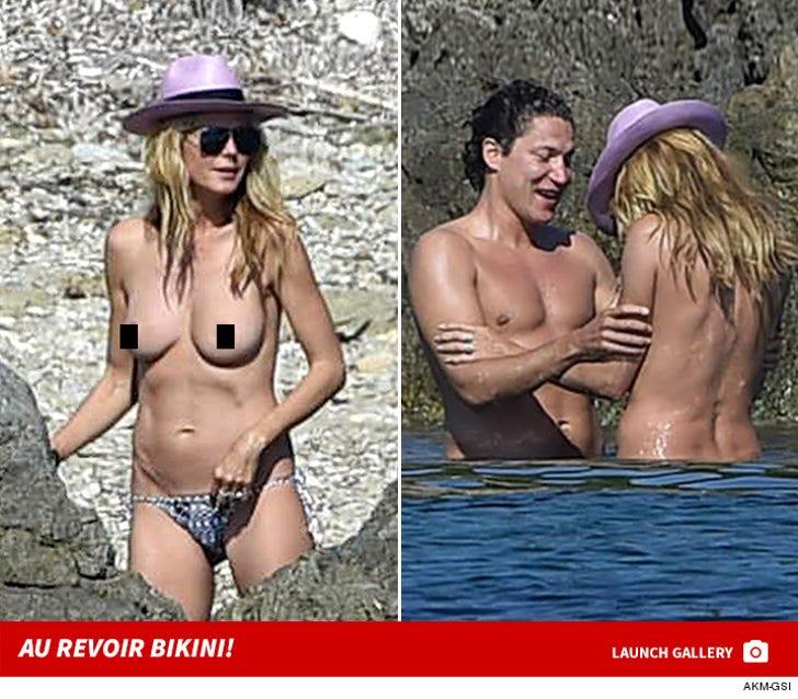 Heidi Klum -- Au Revoir Bikini Top!