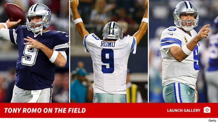 Tony Romo on the Field