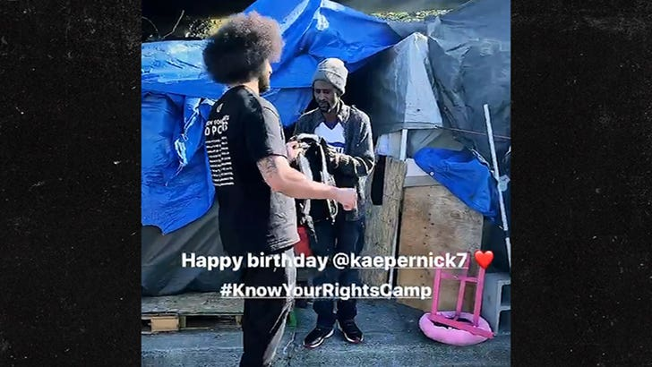 Colin Kaepernick spends his birthday feeing the homeless on skid row