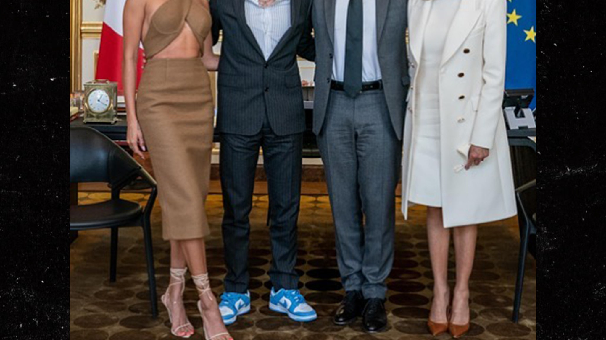 Justin & Hailey Bieber Meet French President Emmanuel Macron - TMZ