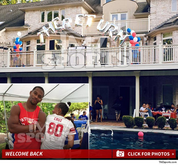 NFL's Victor Cruz -- Massive Mansion Party ... For 'The Return'
