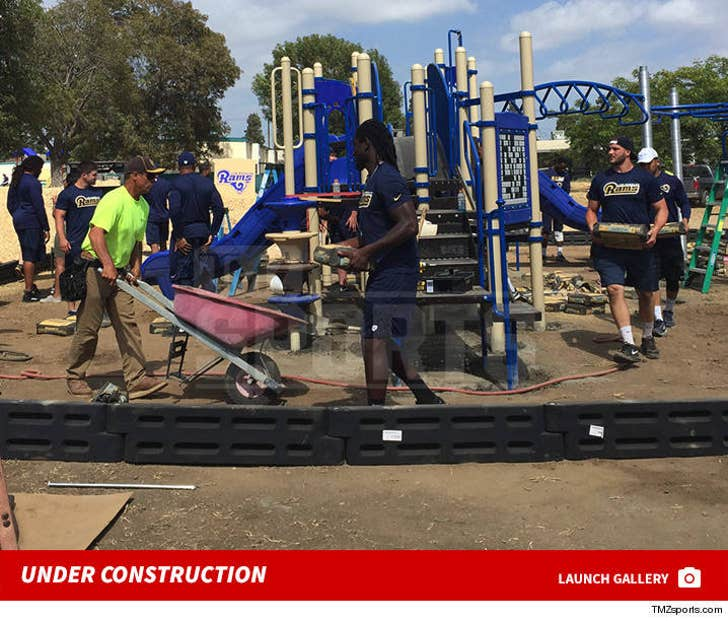 Rams Building New Playground -- Under Construction