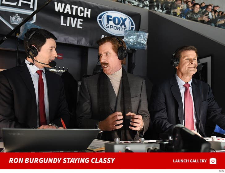 Ron Burgundy Joins LA Kings Broadcast Booth