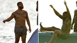 Drake Having a Blast On a Boat in Barbados, Vacation Floats On