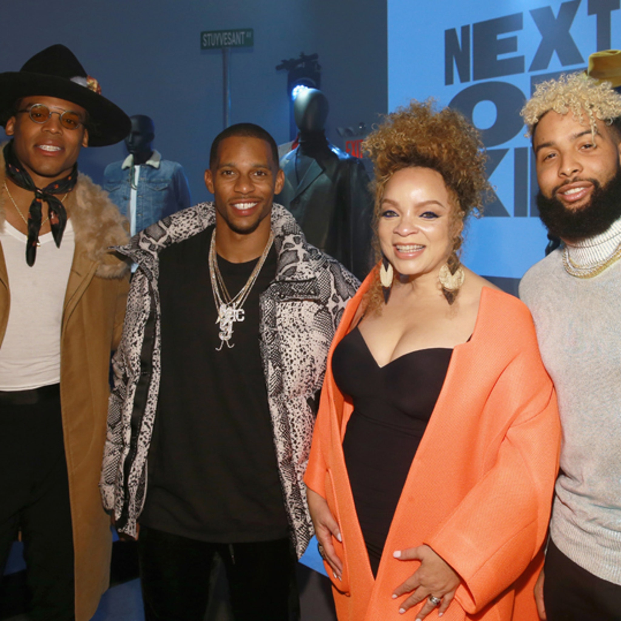 cd5f6509a60043 Cam Newton Hits NY Fashion Show With Odell Beckham