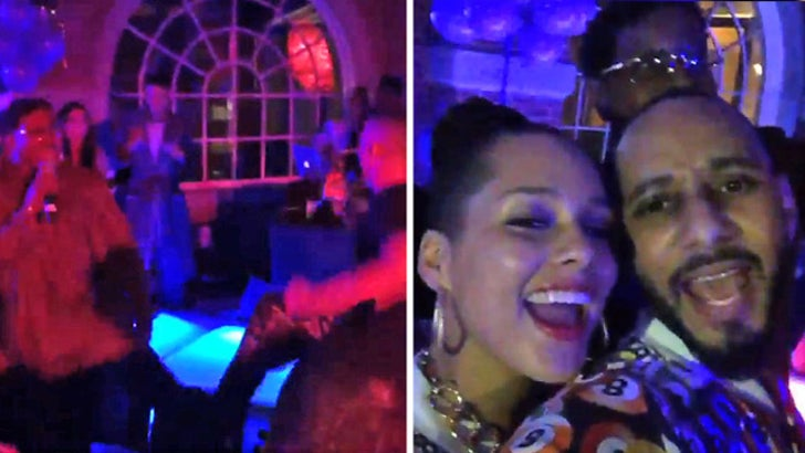 Alicia Keys -- Kid and Playing Around     With 'House Party' Cast