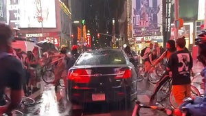 Car Plows Through Times Square Protest of Daniel Prude Killing