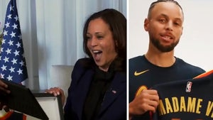 Steph Curry Gifts VP-Elect Kamala Harris Personalized Warriors Jersey