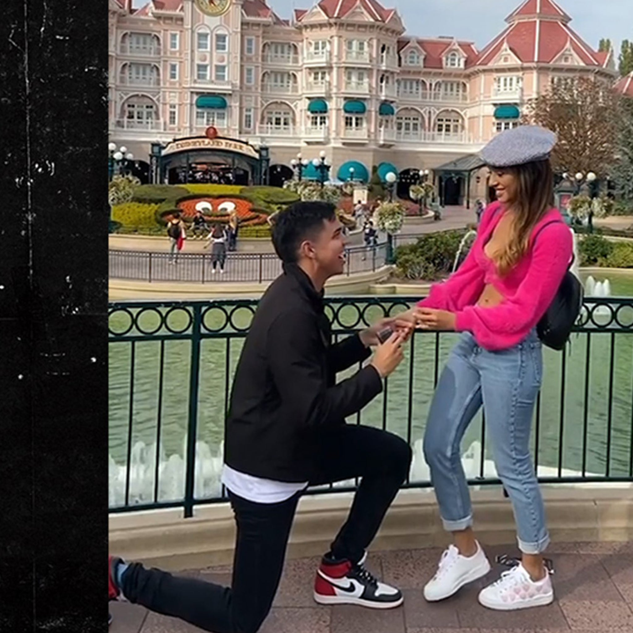 SF Giants Rookie Mauricio Dubon Proposes To Smokin' Hot GF At Disneyland Paris