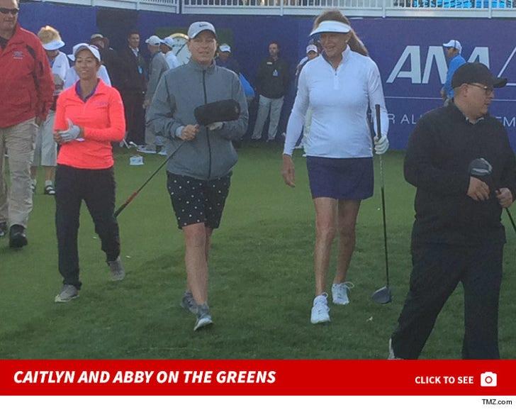 Caitlyn Jenner and Abby Wambach Golfing